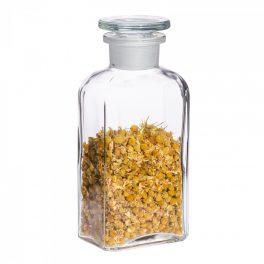 Apothekerflasche SMALL eckig, klar - 2 Stk