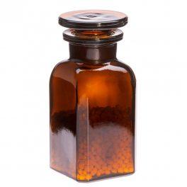 Apothekerflasche MINI eckig, braun - 2 Stk