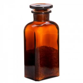 Apothecary bottle SMALL square, amber - 2 pcs