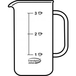 Glaskörper Kaffeebereiter 3 Tassen