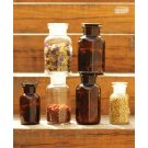 Apothecary bottle MINI brown - 2 pcs