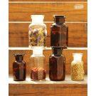 Apothecary bottle MINI brown - 2 pcs