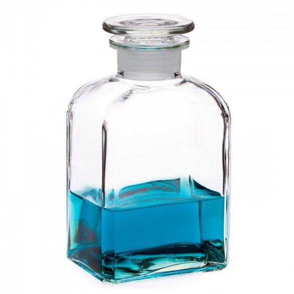 Apothecary bottle MEDIUM square, clear - 2 pcs