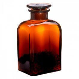 Apothecary bottle MEDIUM square, amber - 2 pcs