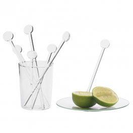 Glass stirrer 14 cm - 6 pcs